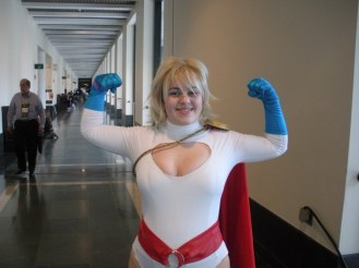 "This picture was posted in an online forum where the poster called me a ""kinda chubby"" Power Girl."